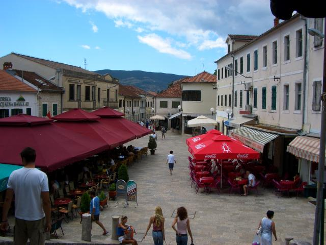 The streets of Herceg-Novi